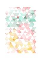 Pastel Triangles Mate Fine-Art Print