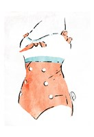 Vintage Swimsuit Pastel 3 Fine-Art Print