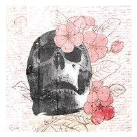 Floral Skull Mate Fine-Art Print