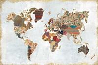 Pattern World Map Fine-Art Print