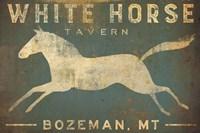 White Horse Running Fine-Art Print