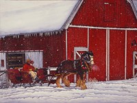 Red Barn Fine-Art Print