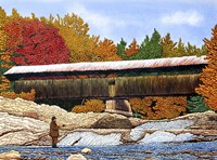 Fishing At The Swiftwater Bridge Fine-Art Print