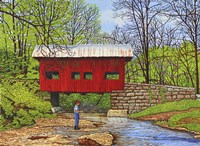 Fishing At Devil's Den Bridge Fine-Art Print