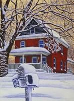 Snow On The Mailbox Fine-Art Print
