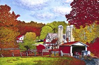 Covered Bridge And Buggy, Lancaster Co, Pa Fine-Art Print