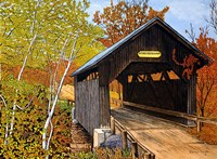 Covered Bridge Waterbury Vt Fine-Art Print