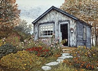Flower Shed I, Arlington Vt Fine-Art Print