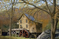 Glade Creek Grist Mill I Beckley, Wv Fine-Art Print