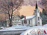 Saint Mary's Church - New Oregon, Ny Fine-Art Print