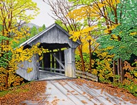 Vermont Bridge In Fall Fine-Art Print
