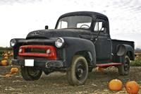 Black Truck In Pumpkin Patch 3 Fine-Art Print
