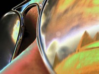 Pyramids in Sunglasses Fine-Art Print