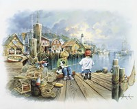 Fishing Dock C Fine-Art Print