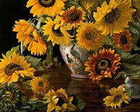 Sunflowers in a White Chinese Vase Fine-Art Print