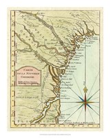 Petite Map of Georgia Fine-Art Print