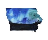 Iowa State Watercolor Fine-Art Print