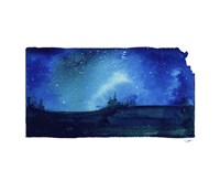 Kansas State Watercolor Fine-Art Print