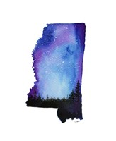 Mississippi State Watercolor Fine-Art Print
