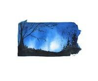 Pennsylvania State Watercolor Fine-Art Print