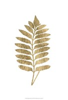 Graphic Gold Fern III Fine-Art Print