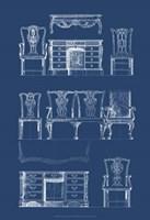 Furniture Blueprint I Fine-Art Print