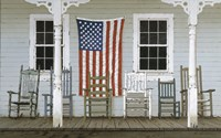 Chair Family With Flag Fine-Art Print
