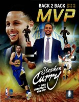Stephen Curry 2016 Back to Back MVP Portrait Plus Fine-Art Print