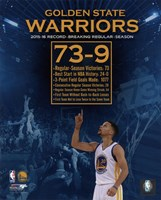 Golden State Warriors record breaking regular season 73-9 Fine-Art Print