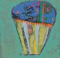Cupcake III  (blue icing) Fine-Art Print