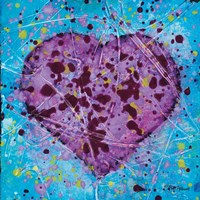 Emotions Scenes Purple Heart Fine-Art Print