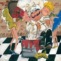 Kiss the Cook Fine-Art Print