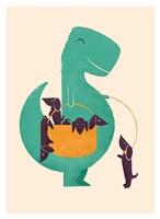 TRex and The Basketful of Wiener Dogs Fine-Art Print