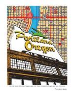 Oregon Map Sign Old Town Portland Fine-Art Print