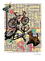 Bicycle and Dog Division Portland Fine-Art Print