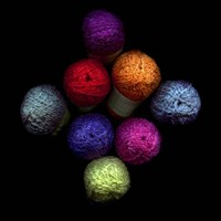 Colourful Balls Of Wool Fine-Art Print