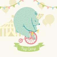 Little Circus Bear Pastel Fine-Art Print