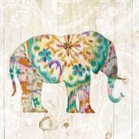 Boho Paisley Elephant I Fine-Art Print