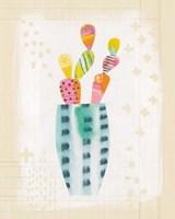 Collage Cactus I on Graph Paper Fine-Art Print
