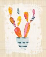 Collage Cactus IV on Graph Paper Fine-Art Print