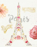 Paris Blooms I Fine-Art Print