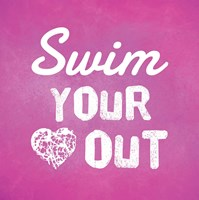 Swim Your Heart Out - Pink Fine-Art Print