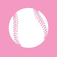 White Softball on Baby Pink Fine-Art Print