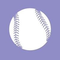 White Softball on Purple Fine-Art Print