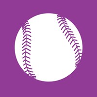 White Softball on Violet Fine-Art Print