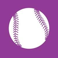White Softball on Violet Fine-Art Print
