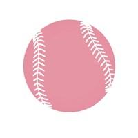 Baby Pink Softball on White Fine-Art Print