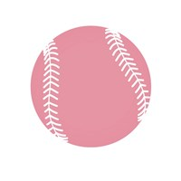 Baby Pink Softball on White Fine-Art Print