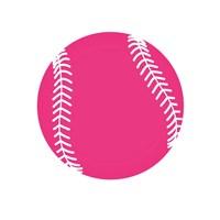 Pink Softball on White Fine-Art Print