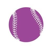 Violet Softball on White Fine-Art Print